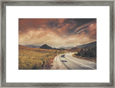 Lake Plimsoll Road. Tasmanian Landscape Framed Print
