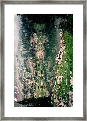 Lake Reflection Sideways Framed Print