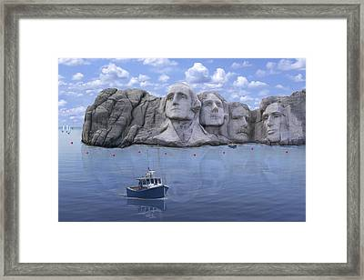 Lake Rushmore - Special Framed Print by Mike McGlothlen