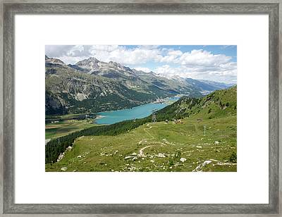 Lake Silvaplana Framed Print by Christian Zesewitz