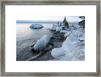 Framed Print featuring the photograph Lake Superior Blues by Sandra Updyke