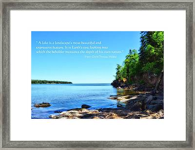 Lake Superior Framed Print by Michelle and John Ressler