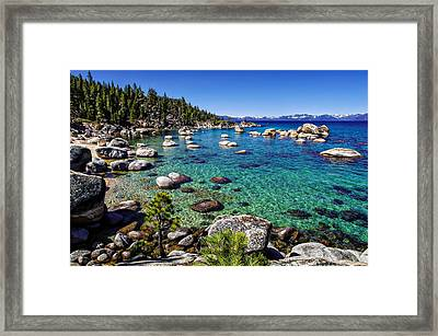 Lake Tahoe Waterscape Framed Print