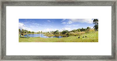 Lake Waratah In North-west Tasmania Australia Framed Print by Jorgo Photography - Wall Art Gallery