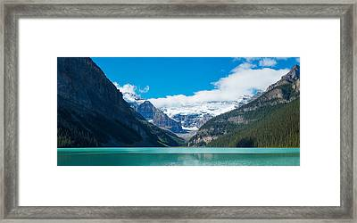 Lake With Canadian Rockies Framed Print by Panoramic Images