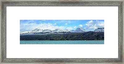 Lake With Snow Capped Mountains Framed Print by Panoramic Images