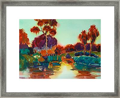 Lakeside Glow Framed Print