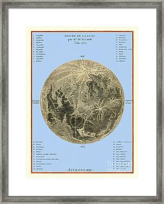 Lalandes Moon Map, 1772 Framed Print