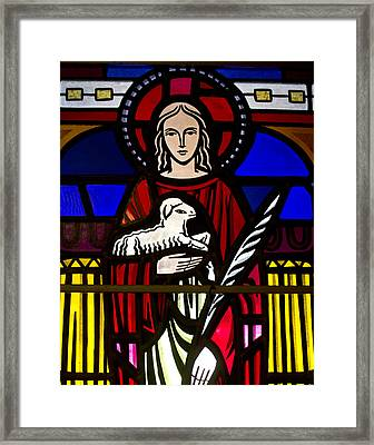 Lamb Of God  Framed Print by Dee  Savage
