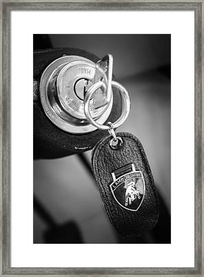 Lamborghini Key Ring Emblem Framed Print