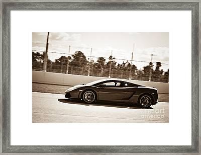 Lamborghini Framed Print by Liesl Marelli