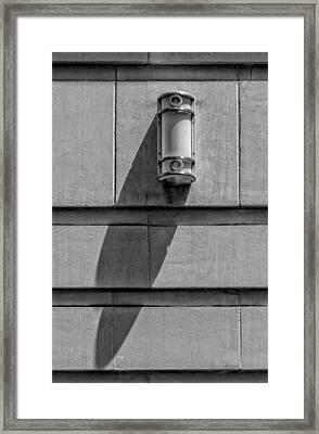 Lamp And Shadow Framed Print by Robert Ullmann