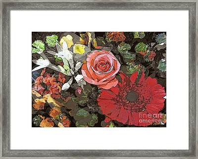 Framed Print featuring the digital art Lancaster Flowers by Joseph J Stevens