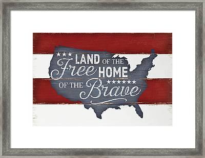 Land Of The Free Framed Print by Jennifer Pugh