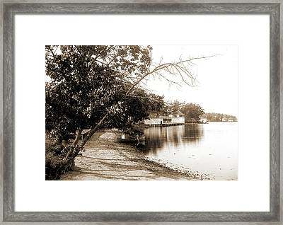 Landing At Assembly Hotel No. 2, Lake Orion Framed Print