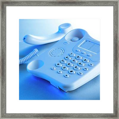 Landline Telephone Framed Print by Science Photo Library