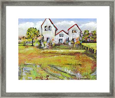Landscape Art Scenic Fields Framed Print