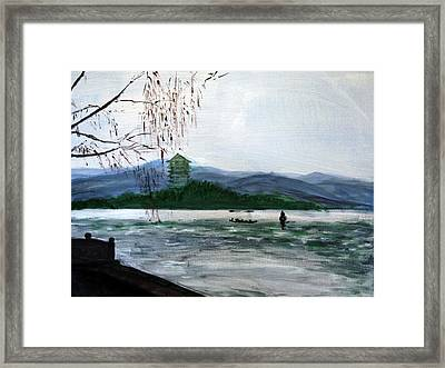 Landscape Pop Arts Framed Print by J j Jin