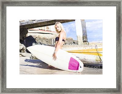 Landscape Surfing Portrait Framed Print by Jorgo Photography - Wall Art Gallery