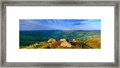Landscape Viewed From Honeybag Tor Framed Print by Panoramic Images