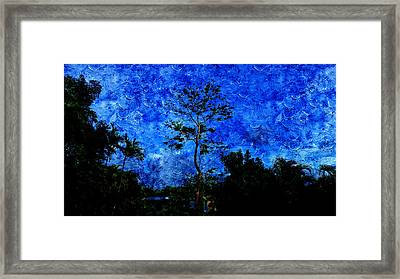 Landscapes In Blue Sky Framed Print