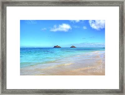 Lanikai Beach Oahu Hawaii Framed Print by Kelly Wade