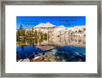 Lao Tzu Quotes Framed Print