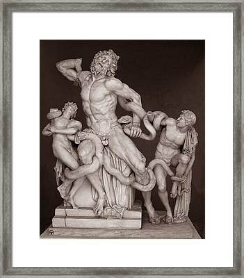 Laocoon And His Sons Framed Print