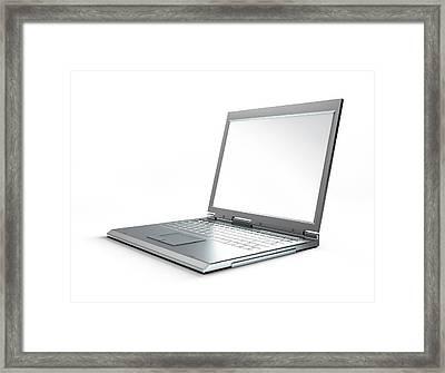 Laptop Computer, Artwork Framed Print by Leonello Calvetti