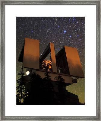 Large Binocular Telescope Framed Print