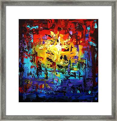 Large Painting Framed Print by Jolina Anthony