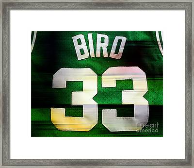 Larry Bird Framed Print by Marvin Blaine