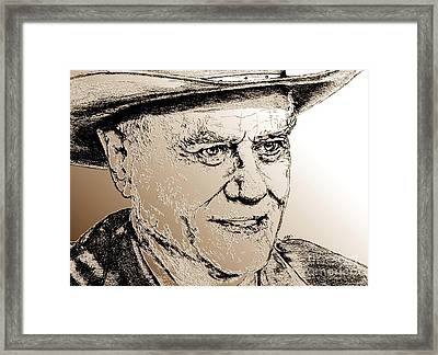 Larry Hagman In 2011 Framed Print by J McCombie