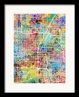The Strip Digital Art Framed Prints