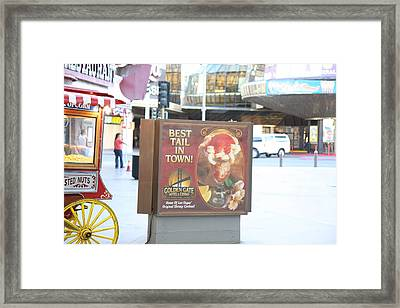 Las Vegas - Fremont Street Experience - 12128 Framed Print by DC Photographer