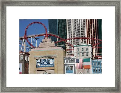 Las Vegas - New York New York Casino - 12128 Framed Print