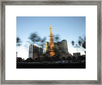Las Vegas - Paris Casino - 12121 Framed Print