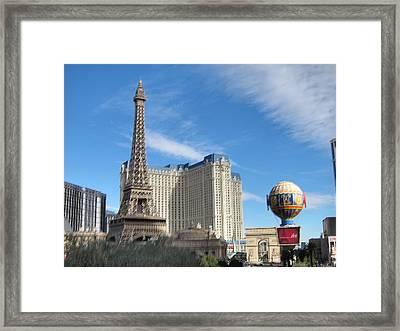 Las Vegas - Paris Casino - 12125 Framed Print by DC Photographer