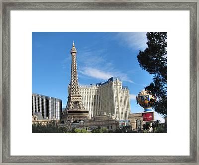 Las Vegas - Paris Casino - 12126 Framed Print by DC Photographer