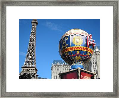 Las Vegas - Paris Casino - 12127 Framed Print