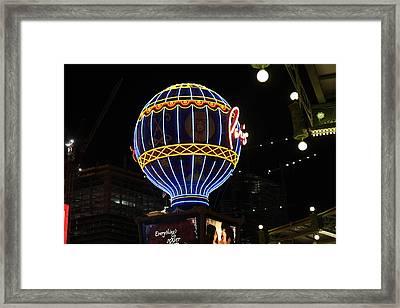 Las Vegas - Paris Casino - 12129 Framed Print by DC Photographer