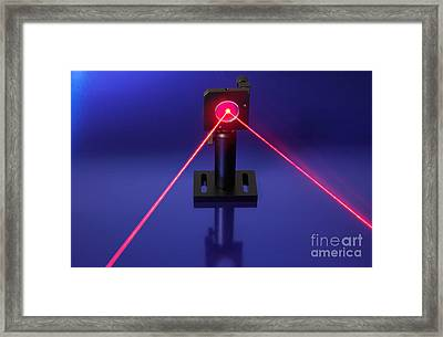 Laser Research Framed Print by GIPhotostock