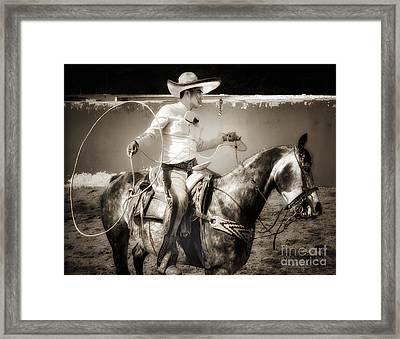 Lasso Artist Framed Print