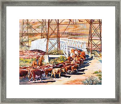 Last Drive Over Dewey Bridge Framed Print