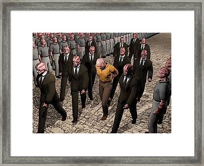 Framed Print featuring the digital art Last March Of The Non Conformist by John Alexander