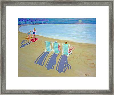 Sunset On Beach - Last Rays Framed Print