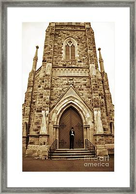 Late For His Own Funeral Framed Print