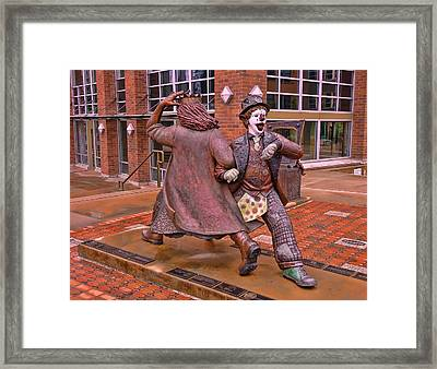 Late For The Interurban Framed Print by Allen Beatty