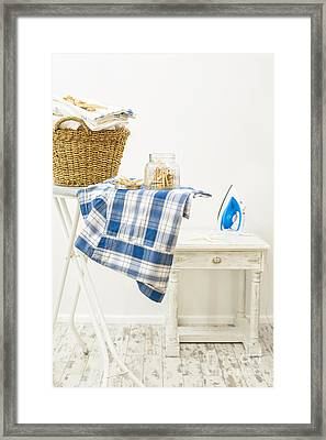 Laundry Room Framed Print by Amanda Elwell