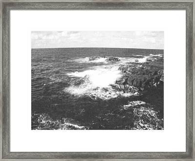Lava And Surf Framed Print